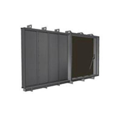 """סט ממ""""ד דור חדש אטום לגזים  דלת + חלון + 3 צינורות אויר ר.מיידובניק"""