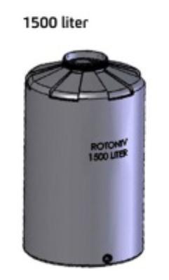 """מיכל מים  1500 ליטר יציאה """"3/4 רוטוניב"""