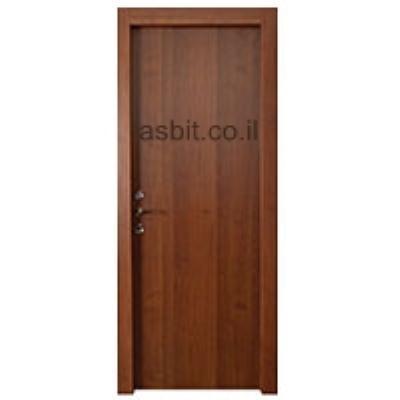 דלת + משקוף 10/12 PVC רוחב  60/70/80/90 גוון אגוז