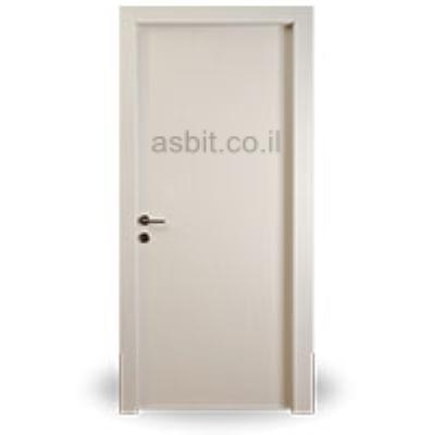 דלת + משקוף 10/12 PVC רוחב  60/70/80/90 גוון שמנת