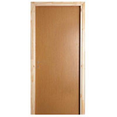 דלת + משקוף עץ לקיר 10 רוחב  60/70/80/90 גוון אלון