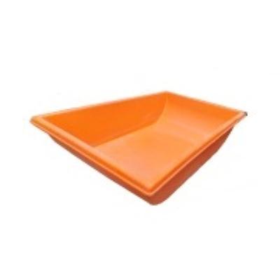 ארגז אמבטיה בטון/טיט  כתום/צהוב  70/130   רוטוניב