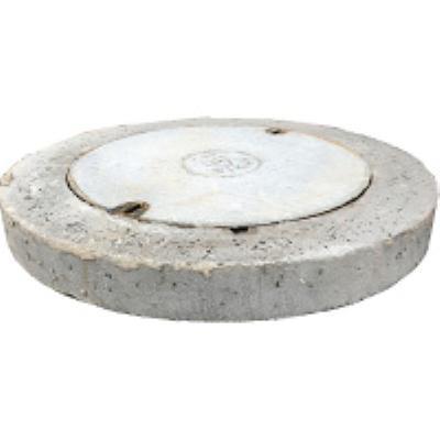 מכסה בטון קוטר חיצוני 95 פקק קוטר 50 עומס  B125