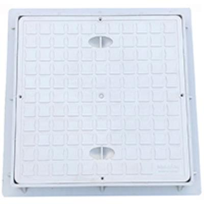 """מכסה קשיח PVC מרובע 40*40 ס""""מ עם מסגרת פלג"""