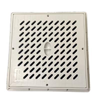 """מכסה רשת קשיח PVC מרובע 30*30 ס""""מ עם מסגרת פלג"""