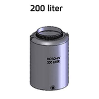 """מיכל מים  200 ליטר יציאה """"3/4 רוטוניב"""