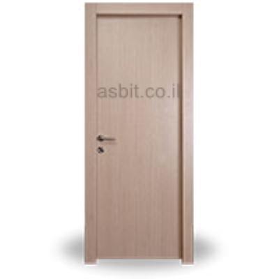 דלת + משקוף 10/12 PVC רוחב  60/70/80/90 גוון אלון מולבן
