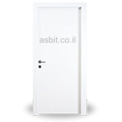 דלת + משקוף 10/12 PVC רוחב  60/70/80/90 גוון לבן
