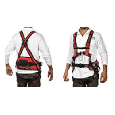רתמת בטיחות + תומך גב 4 נקודות חיבור מהיר ומשכך וחבל