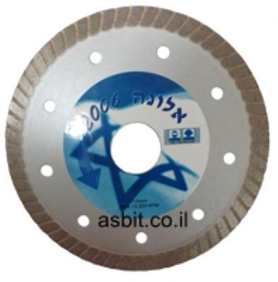"""דיסק יהלום """"4.5 לפורצלן דק 1.2 מ""""מ חיתוך נקי אלונה"""