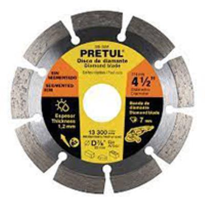 """דיסק יהלום """"4.5 לבטון TRUPER PRETUL"""