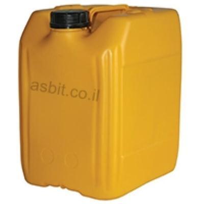 מיכל פלסטיק 20 ליטר צהוב/לבן
